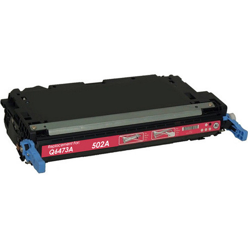Remanufactured replacement for HP 502A (Q6473A) magenta laser toner cartridge