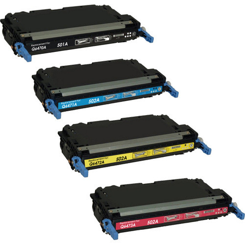HP 501A and HP 502A Toner Cartridge Set