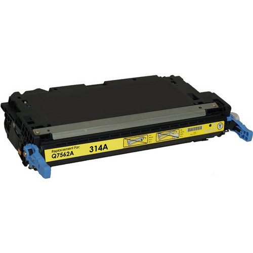 Remanufactured replacement for HP 314A (Q7562A) yellow laser toner cartridge