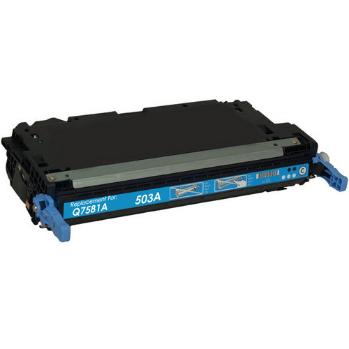 Remanufactured replacement for HP 503A (Q7581A) cyan laser toner cartridge