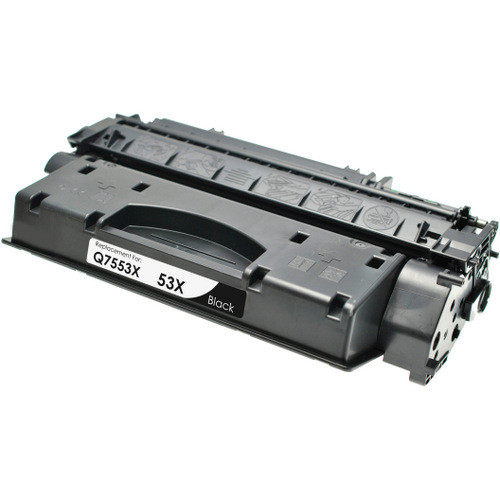 Compatible replacement for HP 53X (Q7553X) black laser toner cartridge