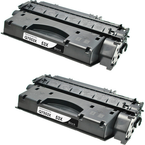 Twin Pack - Compatible replacement for HP 53X (Q7553X) black laser toner cartridge