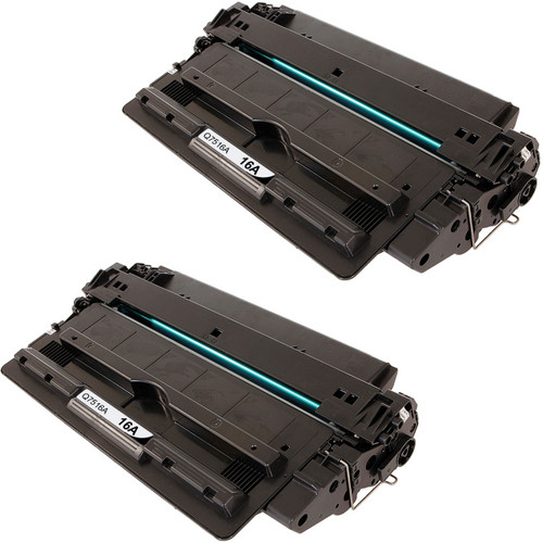 Twin Pack - Remanufactured replacement for HP 16A (Q7516A) black laser toner cartridge