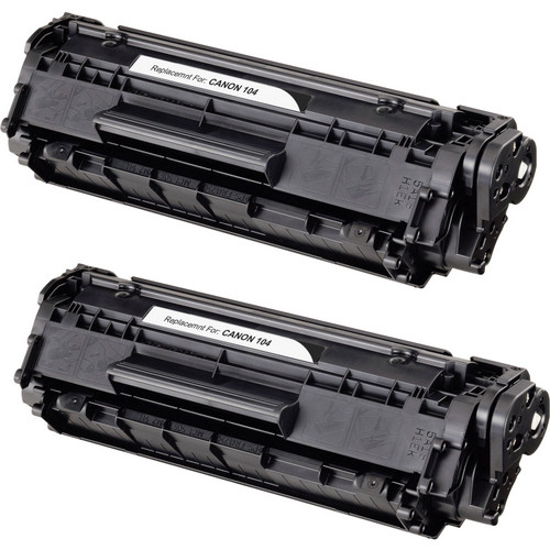 Twin Pack - Compatible replacement for Canon 104, FX-9 , FX-10, (0263B001AA) black laser toner cartridge