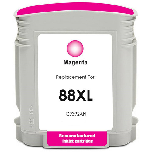 Remanufactured replacement for HP 88XL (C9392AN) magenta ink cartridge