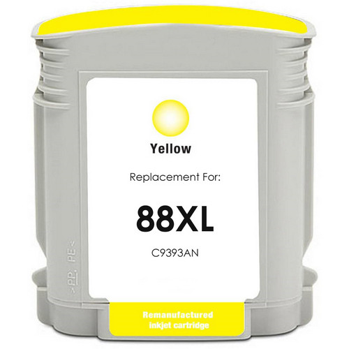 Remanufactured replacement for HP 88XL (C9393AN) yellow ink cartridge