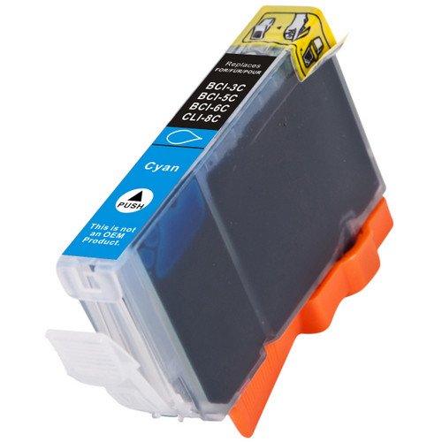 Compatible replacement for Canon Cli-8C (0621B002) cyan ink cartridge