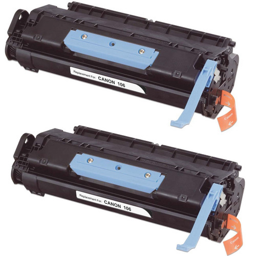 Twin Pack - Compatible replacement for Canon 106 (0264B001AA) black laser toner cartridge