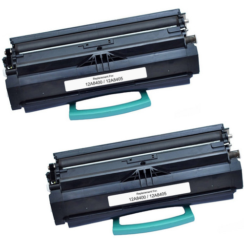 Twin Pack - Remanufactured replacement for Lexmark 12A8400 and 12A8405