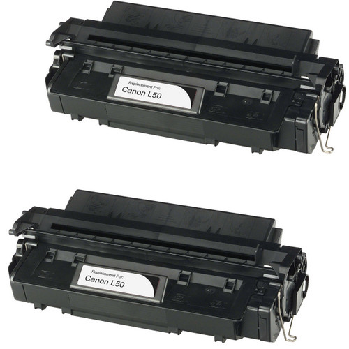 Twin Pack - Compatible replacement for Canon L50 (6812A001AA) black laser toner cartridge