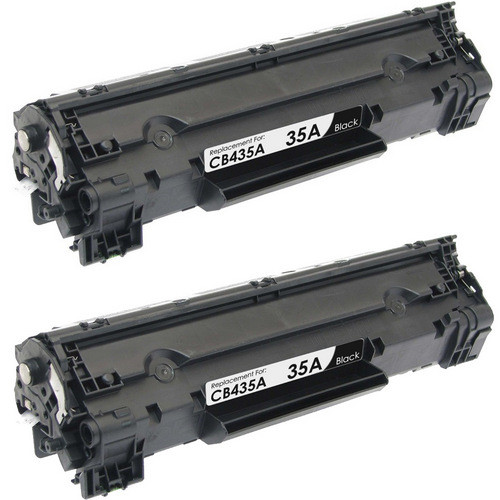 Twin Pack - Compatible replacement for HP 35A (CB435A) black laser toner cartridges