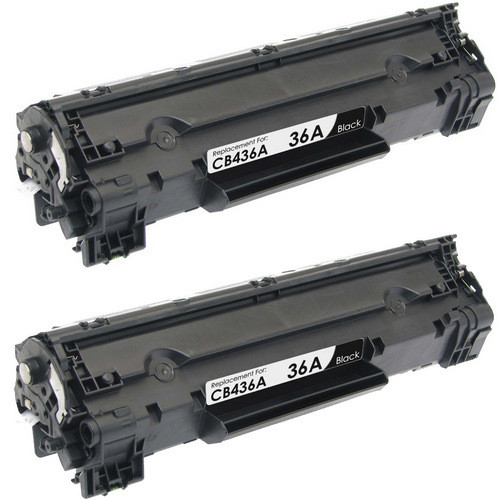 Twin Pack - Compatible replacement for HP 36A (CB436A) black laser toner cartridges