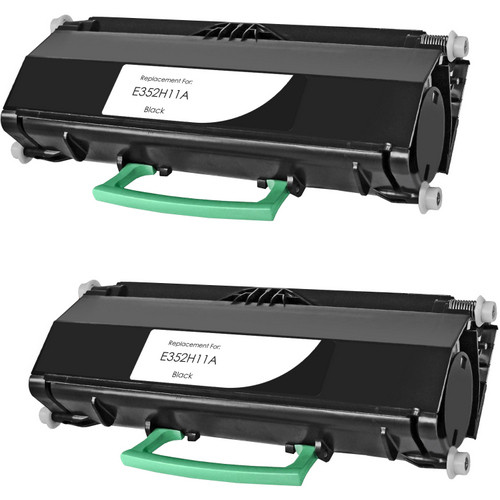 Twin Pack - High yield remanufactured replacement for Lexmark E352H11A