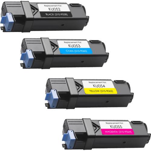 4 Pack - Compatible replacement Dell KU052-KU053-KU054-KU055 Set