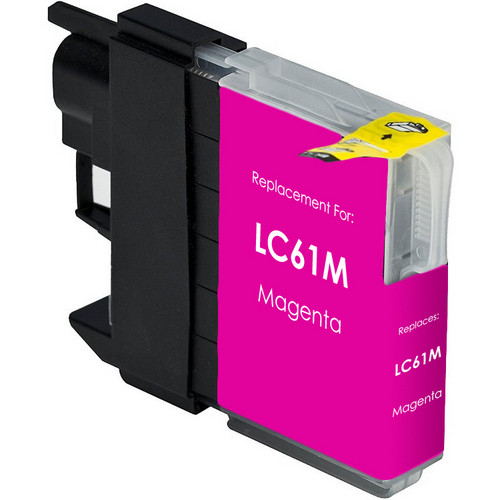 Compatible replacement for Brother LC61M magenta ink cartridge