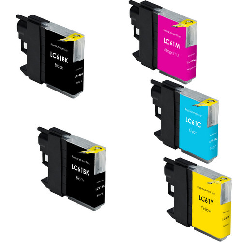 5 Pack - Compatible replacement for Brother LC61 series ink cartridges