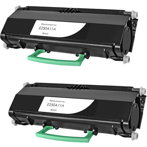 Twin Pack - Remanufactured replacement for Lexmark E250A11A