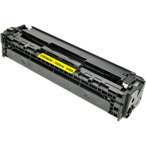 Compatible replacement for HP 125A (CB542A) yellow laser toner cartridge