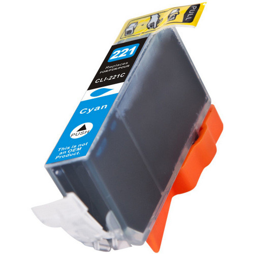 Compatible replacement for Canon Cli-221C (2947B001) cyan ink cartridge