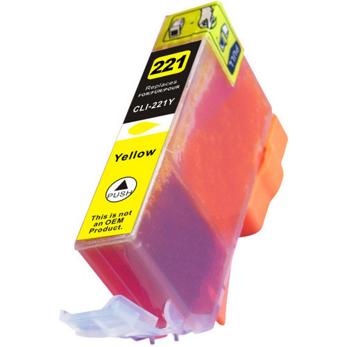 Compatible replacement for Canon Cli-221Y (2949B001) yellow ink cartridge