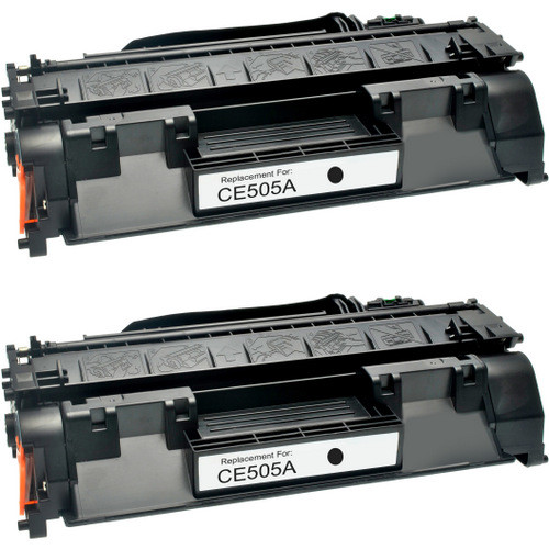 Twin Pack - Compatible replacement for HP 05A (CE505A) black laser toner cartridges