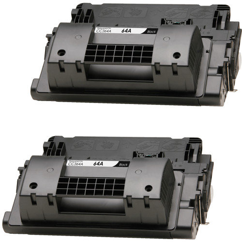 Twin Pack - Compatible replacement for HP 64A (CC364A) black laser toner cartridges