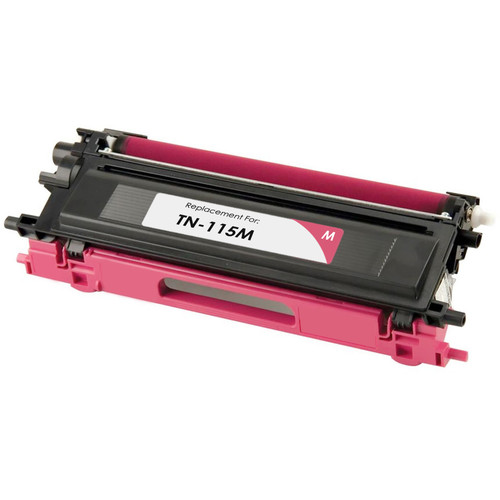 Remanufactured replacement for Brother TN115M magenta laser toner cartridge