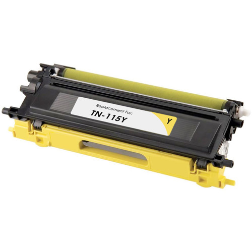 Remanufactured replacement for Brother TN115Y yellow laser toner cartridge