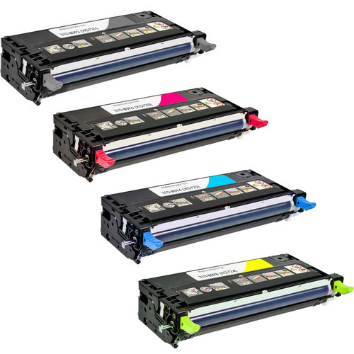 4 Pack - Compatible replacement for Dell 310-8092 series laser toner cartridges