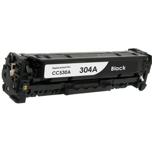 Compatible replacement for HP 304A (CC530A) black laser toner cartridge