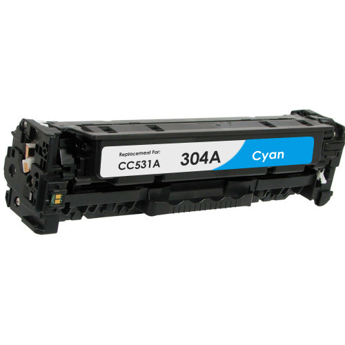 Compatible replacement for HP 304A (CC531A) cyan laser toner cartridge