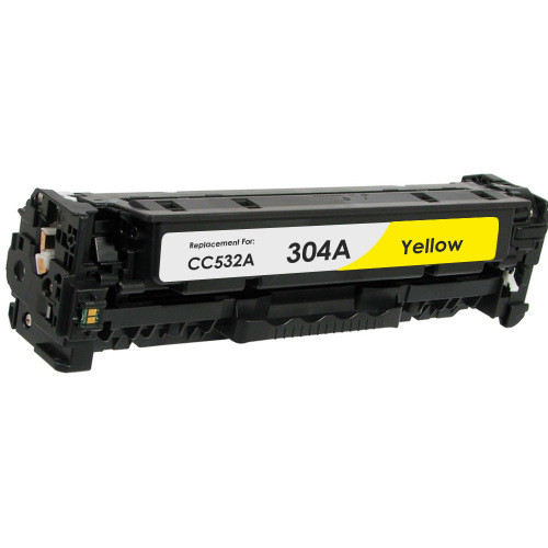 Compatible replacement for HP 304A (CC532A) yellow laser toner cartridge