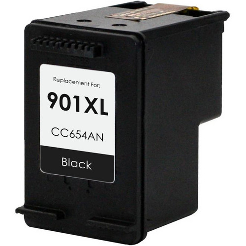 Remanufactured replacement for HP 901XL (CC654AN) black ink cartridge