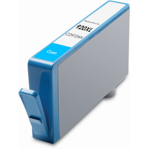 Remanufactured replacement for HP 920XL (CD972AN) cyan ink cartridge