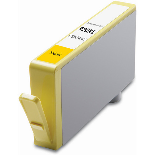 Remanufactured replacement for HP 920XL (CD974AN) yellow ink cartridge