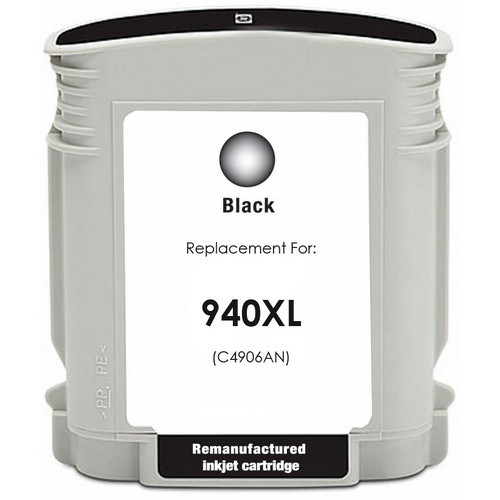 Remanufactured replacement for HP 940XL (C4906AN) black ink cartridge