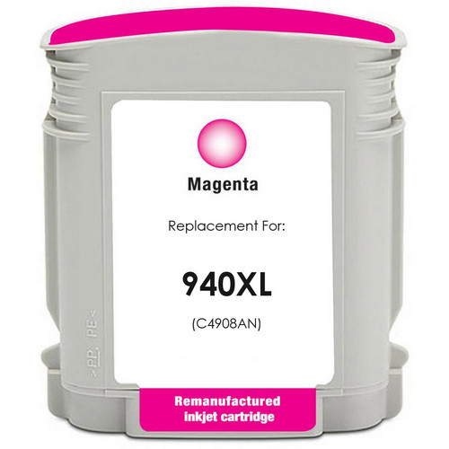Remanufactured replacement for HP 940XL (C4908AN) magenta ink cartridge