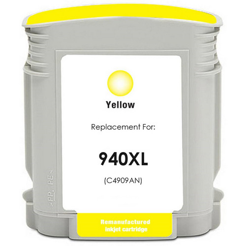 Remanufactured replacement for HP 940XL (C4909AN) yellow ink cartridge