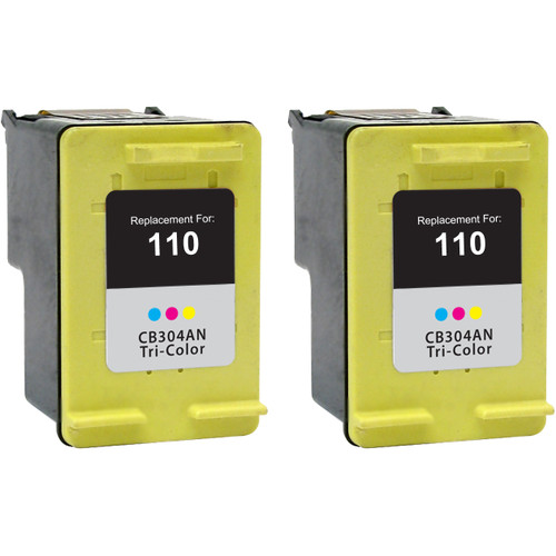 Twin Pack - Remanufactured replacement for HP 110 (CB304AN) color ink cartridges