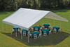 """30x30 Canopy 2-3/8"""" Frame White FR Rated Cover"""