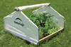 """4x4x2'4"""" Peak Raised Bed Greenhouse with Roll-Up Cover"""