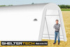 ShelterTech SP Series 12' Wide Round Available in Multiple Heights - Galvanized Frame