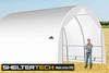 ShelterTech SP Series 18' Wide Round Available in Multiple Heights - Galvanized Frame