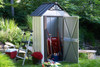 Designer™ Metro Shed, 4' X 2' Hot Dipped Galvanized Steel - Java / Sand