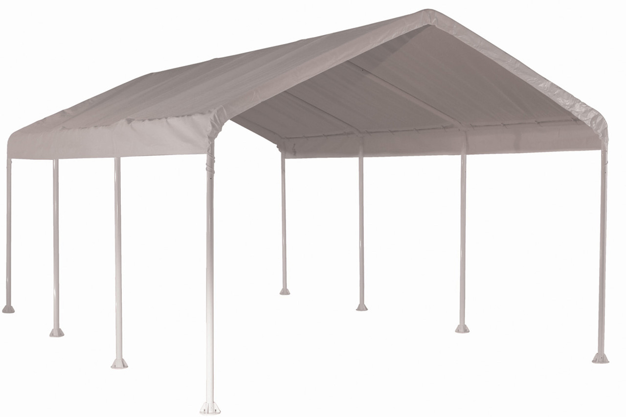 10x20 Canopy 2 8 Leg Frame White Cover Shelters Of New England