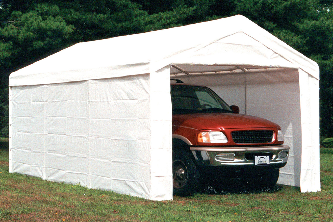 10x20 Canopy 2 8 Leg Frame White Cover Fr Rated Enclosure Kit Shelters Of New England