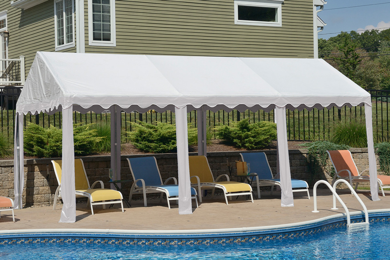 10x20 Party Tent 8 Leg Galvanized Steel Frame White Cover