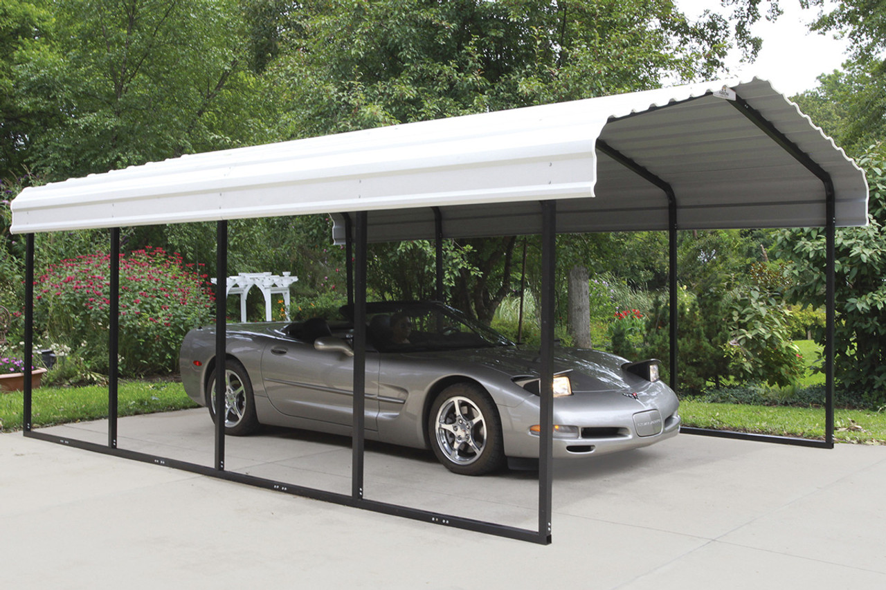 wholesale dealer 9cd32 a7fab 12' Wide x 7' High Arrow Metal Carport