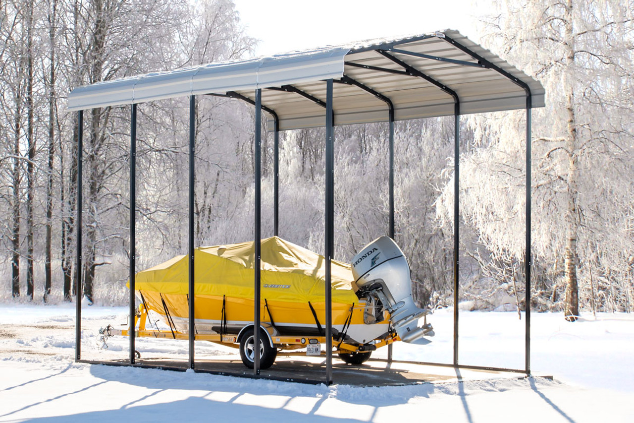 14 Wide X 14 High Arrow Metal Carport Shelters Of New England