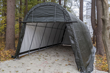 13' Wide x 10' High Round ShelterCoat Wind and Snow Rated